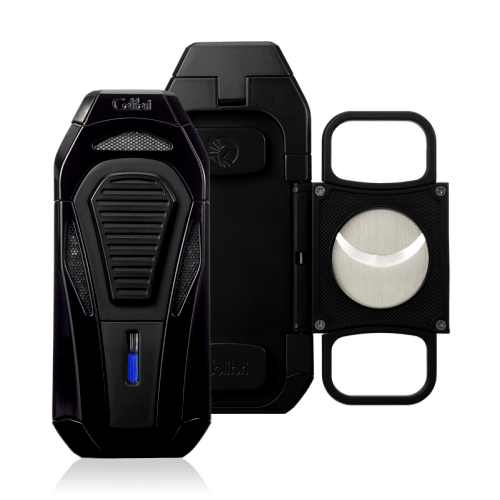 Colibri Boss III Cigar Lighter and Cutter - Black