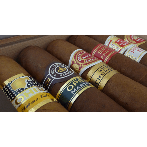 English-Market-Seleccion-Robusto-Cuban-Cigar-Gift-Box - -open