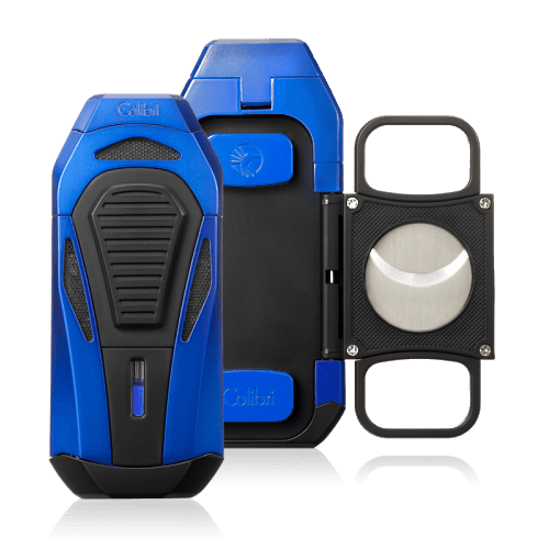 Colibri Boss III Cigar Lighter and Cutter - Blue