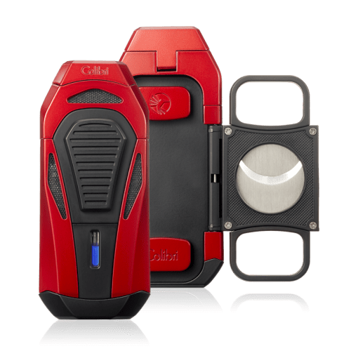 Colibri Boss III Cigar Lighter and Cutter - Red