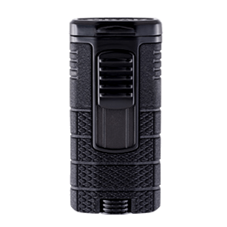 Xikar Tactical Triple Jet Flame Lighter - Black & Black