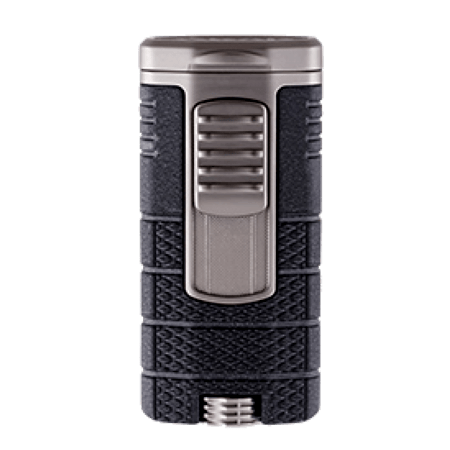 Xikar Tactical Triple Jet Flame Lighter - Black & Gunmetal