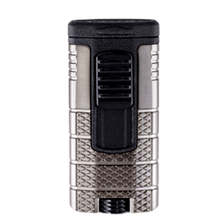 Xikar Tactical Triple Jet Flame Lighter - Gunmetal & Black