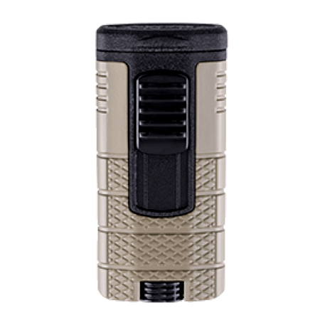Xikar Tactical Triple Jet Flame Lighter - Tan & Black