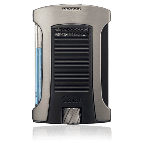 Colibri-Daytona-Single-Jet-Flame-Lighter-–-Brushed-Gunmetal