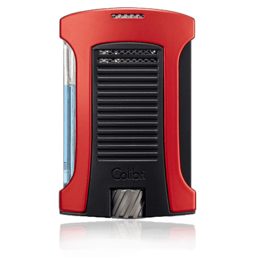 Colibri-Daytona-Single-Jet-Flame-Lighter-–-Red