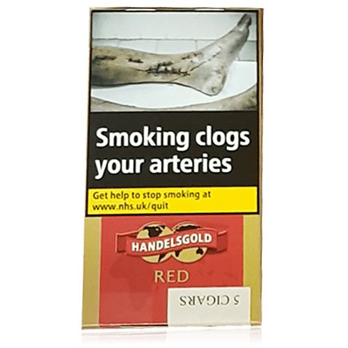 Handelsgold Red Flavoured Cigarillos Pack of 5 Cigars